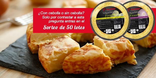 Sorteamos 50 lotes de nuestras deliciosas tortillas de patatas
