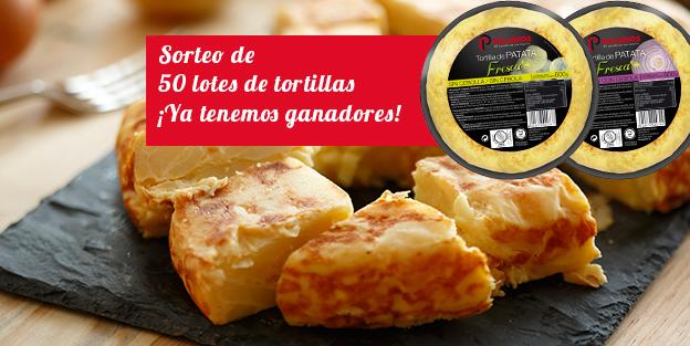 ¡Ya tenemos a los ganadores de los 50 lotes de tortillas Palacios!