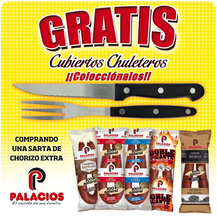Consigue gratis tus cubiertos chuleteros  por la compra de una sarta de Chorizo Extra