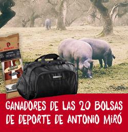 GANADORAS DE LAS 20 BOLSAS DE DEPORTE DE ANTONIO MIRÓ