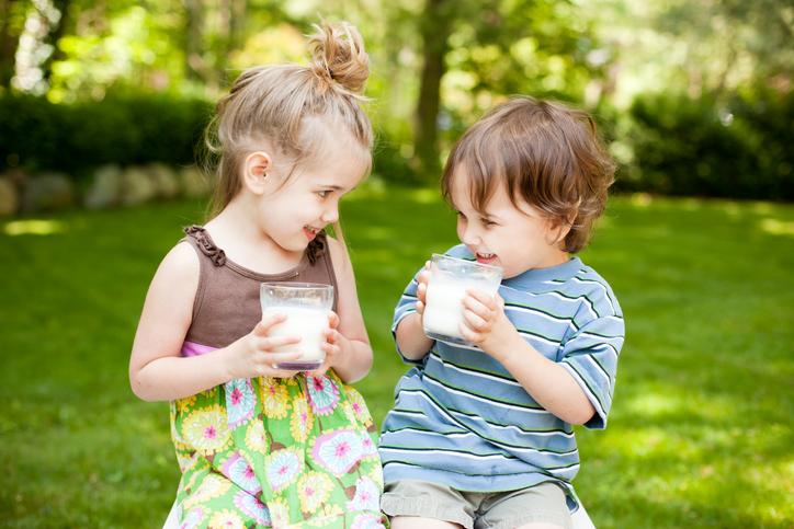 La leche entera no engorda a los niños