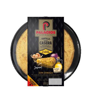 Tortilla casera Palacios con cebolla 300gr