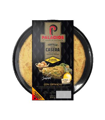 Tortilla casera Palacios con espinacas 300gr