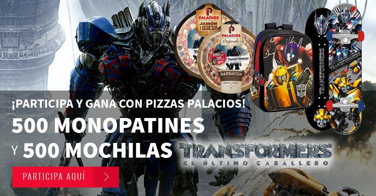 Sorteo Transformers y Pizzas Palacios