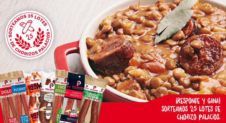 Dinos en qué receta utilizas el Chorizo Palacios Especial Cocina