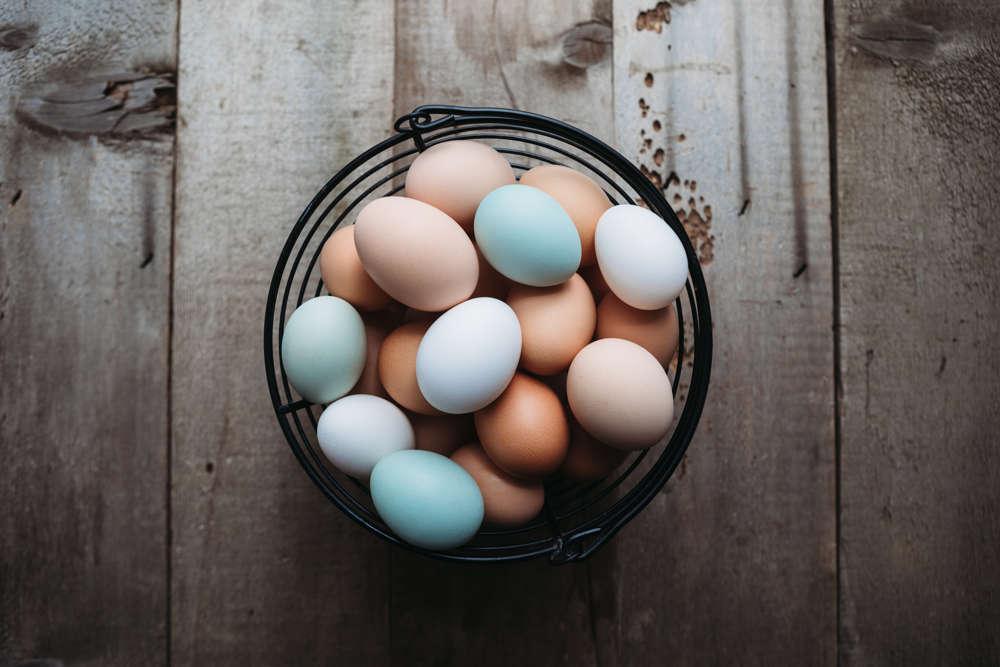 ¿A qué se debe el color de los huevos?