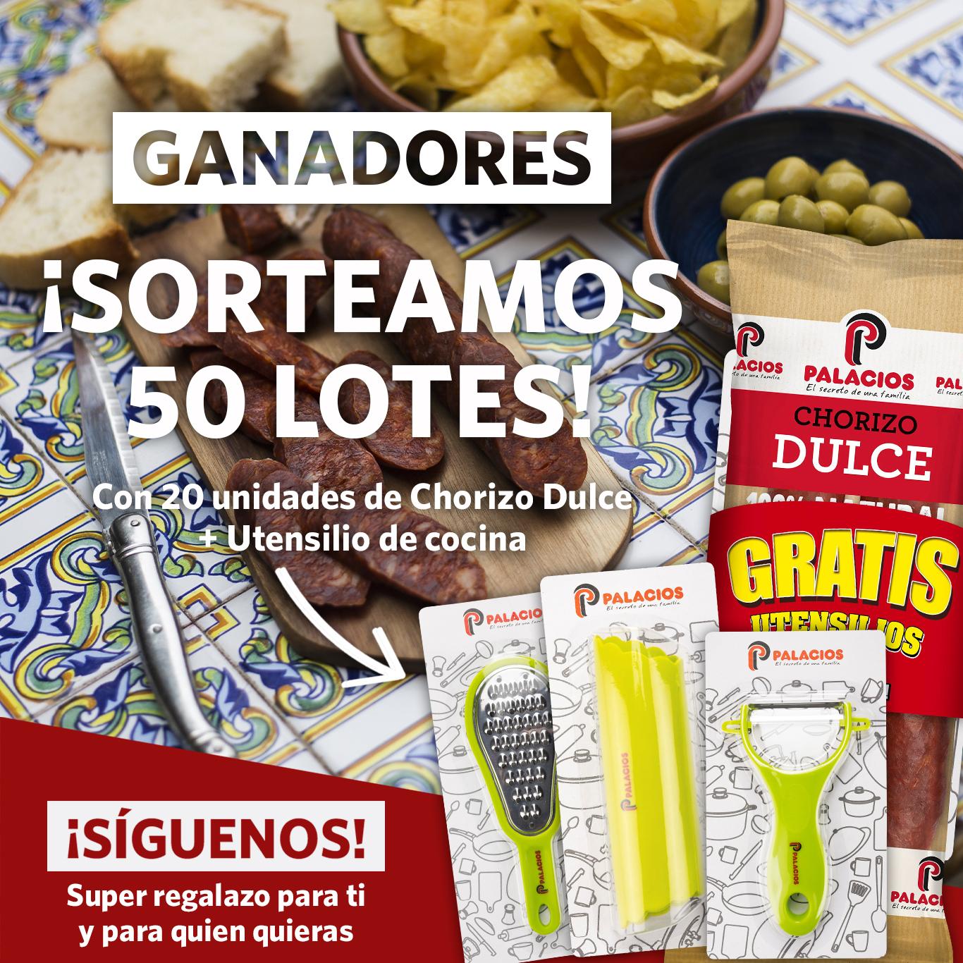 ¡Estos son los ganadores de los 50 lotes de chorizo dulce Palacios!
