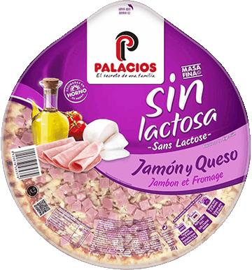 Pizza sin lactosa jamón y queso
