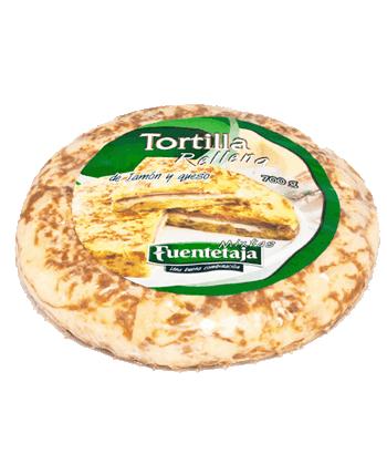 Tortilla pasteurizada jamón y queso (rellena)