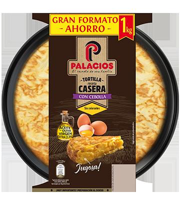 Tortilla casera Palacios con cebolla 850gr