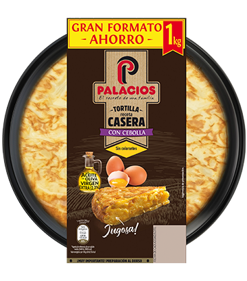 Tortilla casera Palacios con cebolla 1kg