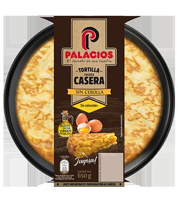 Tortilla casera Palacios sin cebolla 650gr