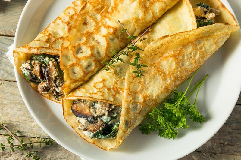 Cocinar Crepes | Crepes De Verduras Y Langostinos Palacios