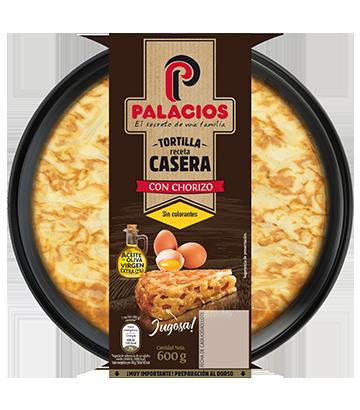 Tortilla casera palacios con chorizo 650gr
