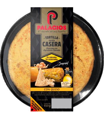 Tortilla casera palacios con queso 650gr