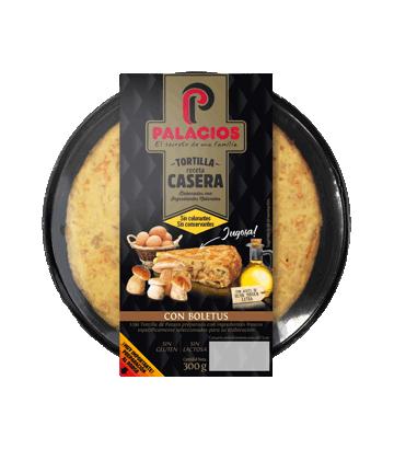 Tortilla casera Palacios con boletus 300gr