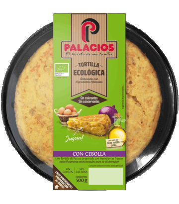 Tortilla ecológica Palacios con cebolla
