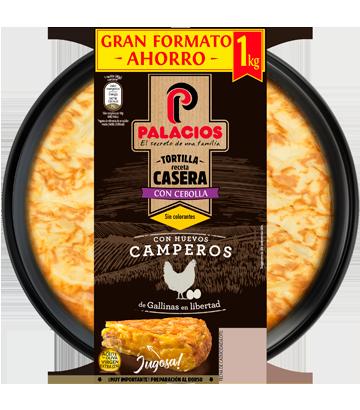 Tortilla casera Palacios con cebolla 1 kilo