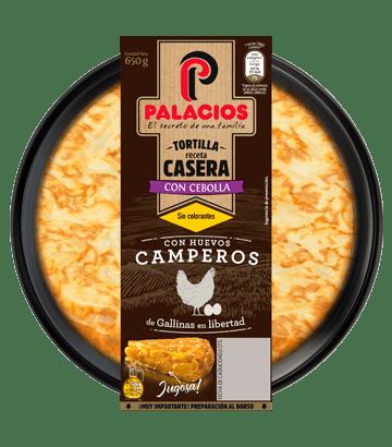 Tortilla casera Palacios con cebolla 650gr