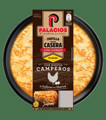Tortilla casera palacios con chorizo 600gr