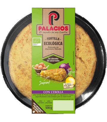 Tortilla ecológica Palacios con cebolla 500gr