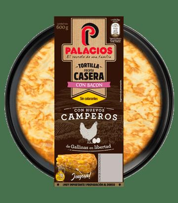 Tortilla casera palacios con bacon 600gr