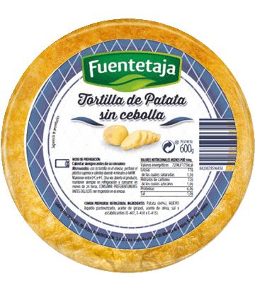 Tortilla de patata fresca sin cebolla mediana