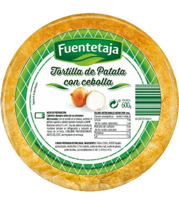 Tortilla de patata fresca con cebolla mediana