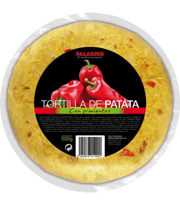 Tortilla de patata con pimientos mediana
