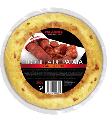 Tortilla de patata con chorizo mediana