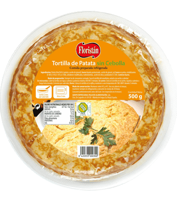 Tortilla de patata sin cebolla mediana