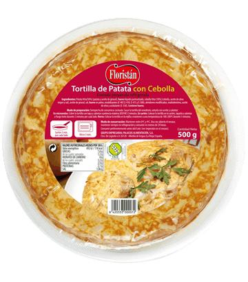 Tortilla de patata con cebolla mediana