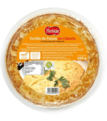 Tortilla de patata sin cebolla grande