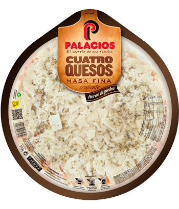 Pizza Masa Fina cuatro Quesos