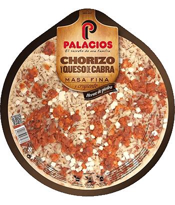 Pizza Masa Fina Chorizo y Queso de cabra