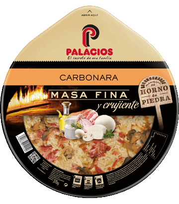 Pizza Masa Fina Carbonara