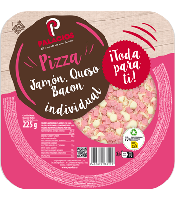 Pizza Mini Micro Jamón Bacon Queso