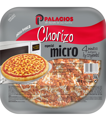 Pizza Mini Micro Chorizo