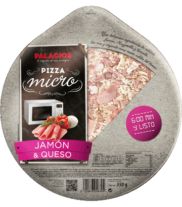 Pizza Micro Jam�n Queso