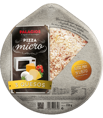 Pizza Micro 3 Quesos